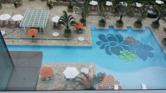 Swimming pool view from Suite 1 room
