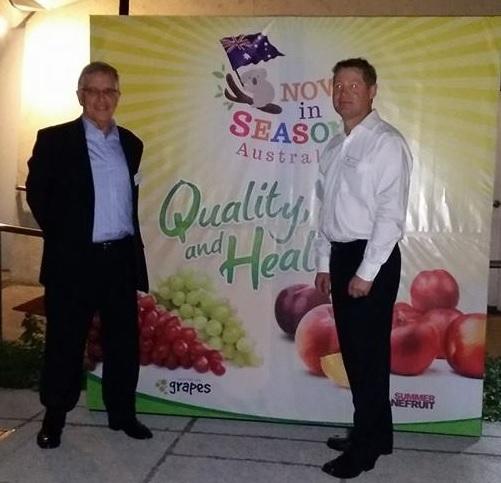 Australian Ambassador Bill Tweddell and Anthony Weymouth, senior trade commissioner of Austrade Manila