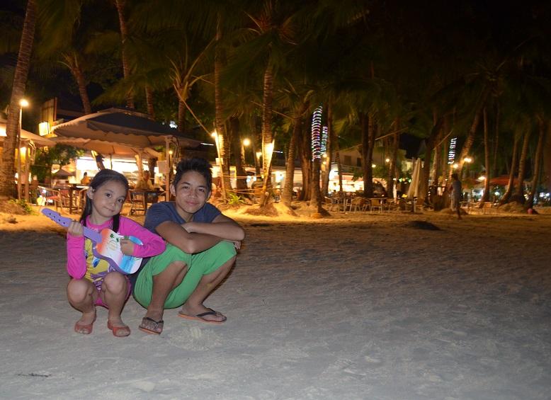 My kids enjoying the night